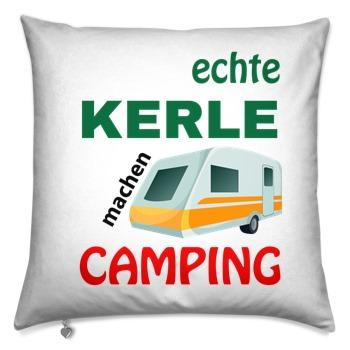 Decorative pillow 40x40 / real guys go camping with caravan
