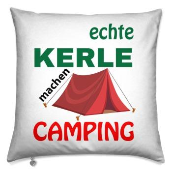 Decorative pillow 40x40 / real guys go camping with tents